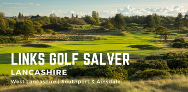 Links Golf Salver - Lancashire Links