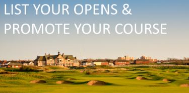 For Golf Clubs: How to list your open competitions